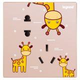 仕典10A连体二三插 斜五孔-长颈鹿