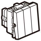 罗格朗开关插座 奥特 陶瓷白 方形2位双控开关加1位单控开关模块 20A 250V