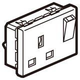 罗格朗开关插座 奥特 陶瓷白 方形英标带开关插座模块 13A 3M