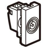 罗格朗开关插座 奥特 陶瓷白 方形电视插座模块 1M