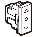 罗格朗开关插座 奥特 陶瓷白 按键自复位中间位置窗帘开关 1M