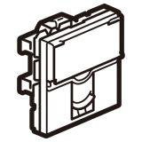 罗格朗开关插座 奥特 陶瓷白 方形电话RJ11插座模块 2M