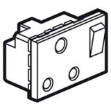 罗格朗开关插座 奥特 金属镁 方形英标插座模块 15A 3M