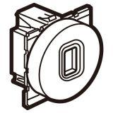 奥特_圆型_USB模块_金属镁色