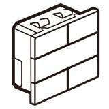 KNX-奥特 4联4键控制器, 陶瓷白方形