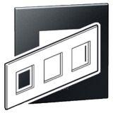罗格朗开关插座 奥特 石晶墨 方形三位连体面板 3×2M
