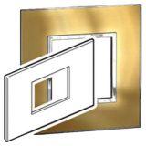 罗格朗开关插座 奥特 拉丝金 方形单联面板 3M 92mm X 157mm