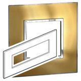 罗格朗开关插座 奥特 拉丝金 方形面板带固定架 8M