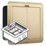 铜面_方形_小型地插盒_空_D60mm_六位数据模块支架