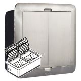 银色_方形_小型地插盒_D80mm_八位数据模块支架