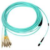 MTP-LC预端接光缆,12芯,多模,OM3,LSZH,10米,(MTP端结构1,LC端结构2)翻转型