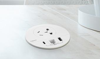 罗格朗桌面插座丨桌面用电这样安排真舒服